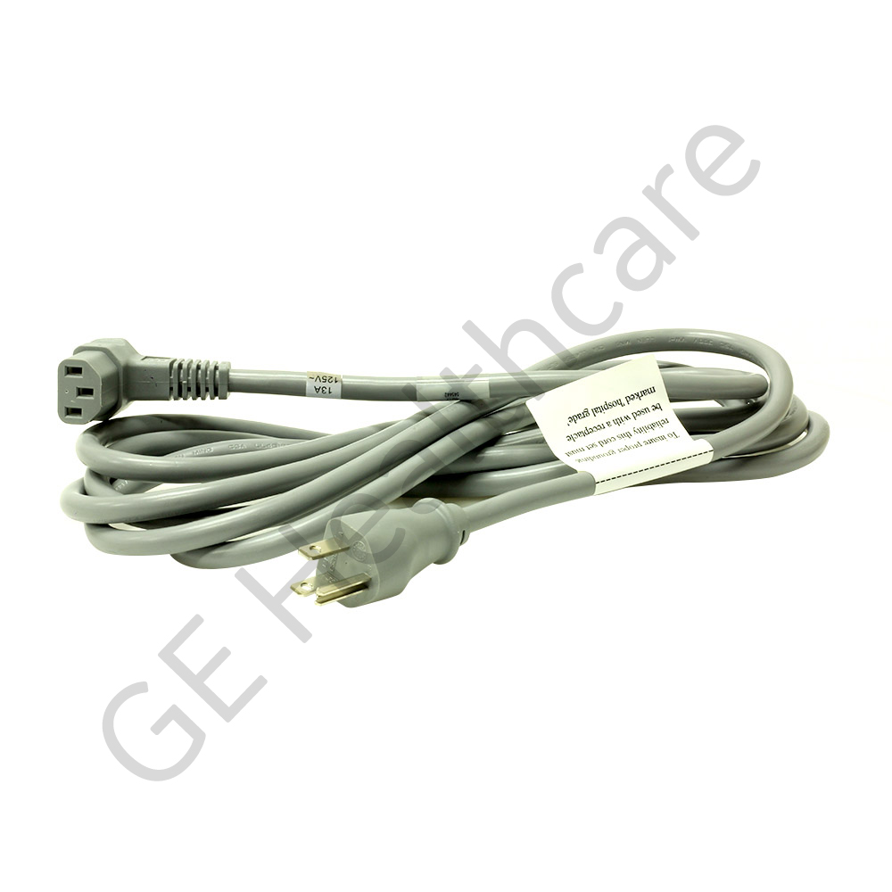 Power Supply Cord 125V 12ft RA TO5